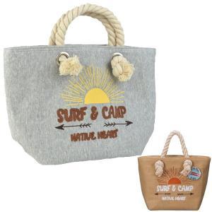 ランチトートバック 保温保冷 NH スウェットトートバッグ SURF&CAMP ランチバッグ ( トートバッグ 弁当グッズ ランチグッズ )|colorfulbox