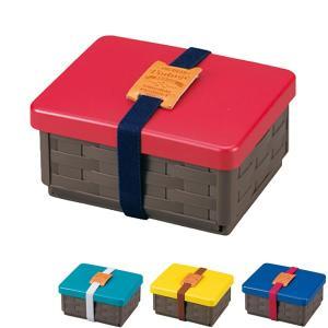 お弁当箱 1段 HAKOYA アメリカンビンテージ サンドバスケット サンドイッチケース 折りたたみ式 ( サンドウィッチケース ランチボックス 弁当箱 )|colorfulbox
