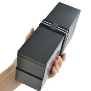 お弁当箱 日本製 2段 メンズスリム二段弁当 840ml メタリック 食洗機対応 電子レンジ対応 ( HAKOYA 弁当箱 ランチボックス )|colorfulbox|04