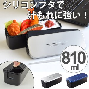 メンズ ランチボックス スリム 810ml 食洗機対応 電子レンジ対応 箸付 バッグ付き