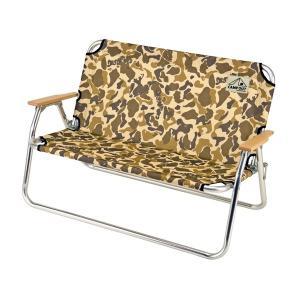 折りたたみ椅子 アルミ背付ベンチ キャンプアウト カモフラージュ 2人掛け ( ベンチ 折りたたみ 折りたたみチェア ) colorfulbox