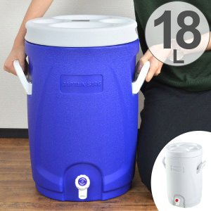 保冷ウォータージャグ スポーツドリンク対応 リガード ウォータージャグ&クーラー 18L キャプテンスタッグ ( スポーツジャグ ジャグ 大容量 )|colorfulbox