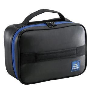 保冷バッグ 保冷ランチバッグ 1段2段共用 ブラック ( ファスナー付 お弁当袋 ランチバッグ )|colorfulbox