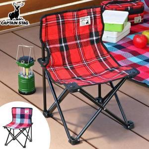 折りたたみ椅子 起毛コンパクトチェア チェック柄 携帯用 ( 折りたたみチェア コンパクトチェア 簡易チェア )|colorfulbox