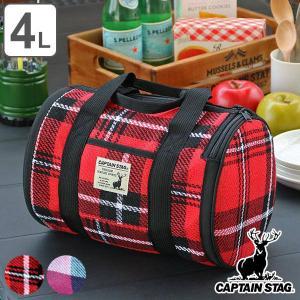 チェック柄のドラム型クーラーバッグです。保温・保冷どちらも使えます。内面はアルミ蒸着で保冷保温効果を...