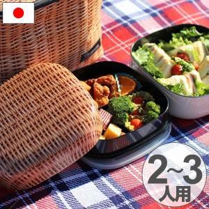 お弁当箱 ファミリーランチボックス ピクニックランチボックス 2段 PANIER 2500ml 日本製 ( ランチボックス 弁当箱 お重 )|colorfulbox