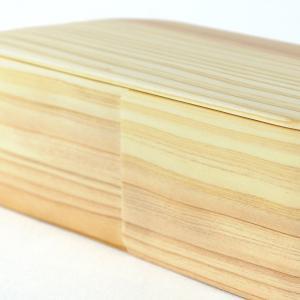 曲げわっぱ 弁当箱 日本製 長角 一段 木製 640ml 仕切り付き ( お弁当箱 わっぱ弁当 ランチボックス )|colorfulbox|06