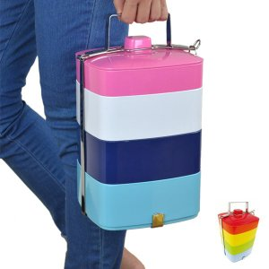 ピクニックランチボックス メラミン製 お弁当箱 4段 ( 重箱 ランチボックス オードブル重 )|新着A|06|colorfulbox