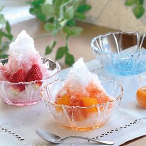 かき氷 器 ガラス ( ガラス食器 そうめん鉢 )