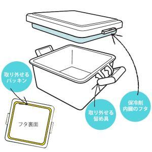 お弁当箱 ジェルクール じぇるく〜ま ランチボックス S 1段 220ml 保冷剤一体型フタ ( ランチボックス 日本製 デザートケース )|colorfulbox|03