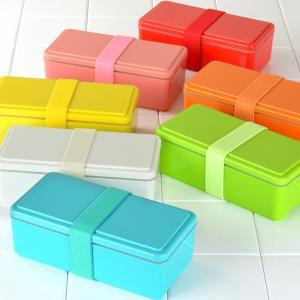 お弁当箱 1段 保冷剤一体型 ジェルクール GEL-COOL スクエア ライトカラー SG 500ml ( 弁当箱 日本製 保冷剤 ランチボックス ランチバンド付 )|colorfulbox|11