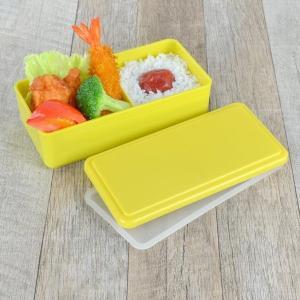 お弁当箱 1段 保冷剤一体型 ジェルクール GEL-COOL スクエア ライトカラー SG 500ml ( 弁当箱 日本製 保冷剤 ランチボックス ランチバンド付 )|colorfulbox|06
