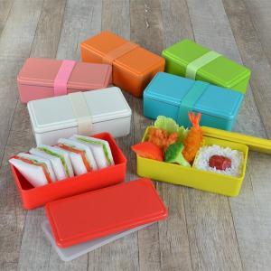お弁当箱 1段 保冷剤一体型 ジェルクール GEL-COOL スクエア ライトカラー SG 500ml ( 弁当箱 日本製 保冷剤 ランチボックス ランチバンド付 )|colorfulbox|08
