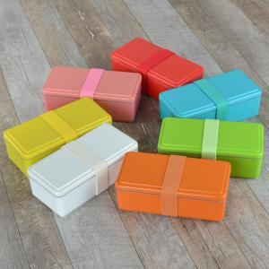 お弁当箱 1段 保冷剤一体型 ジェルクール GEL-COOL スクエア ライトカラー SG 500ml ( 弁当箱 日本製 保冷剤 ランチボックス ランチバンド付 )|colorfulbox|10