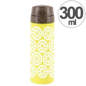 水筒 ワンプッシュマグボトル 保冷保温 北欧 KEEP マイボトル 300ml スノーフレーク ( ステンレス 保冷保温 ステンレス製 ) 新着A 07 colorfulbox