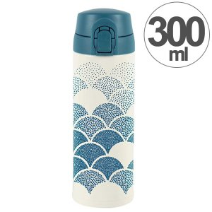 水筒 ワンプッシュマグボトル 保冷 保温 北欧 KEEP マイボトル 300ml ドットドット ( ステンレス 保冷保温 ステンレス製 )|colorfulbox