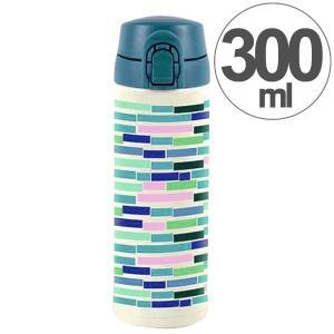 水筒 ワンプッシュマグボトル 保冷 保温 北欧 KEEP マイボトル 300ml ウッドフロア ( ステンレス 保冷保温 ステンレス製 )|colorfulbox