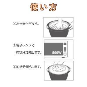 ご飯メーカー レンジごはん炊き 1合 電子レンジ専用 ( ライスジャー レンジ調理器 電子レンジ対応 )|colorfulbox|03
