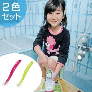 ぐるぐる洗えるシューズブラシ・2色組