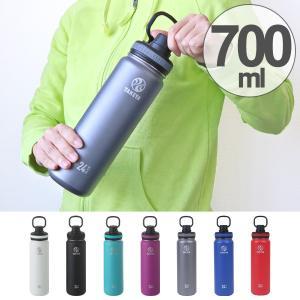 水筒 タケヤフラスク ステンレス 二重構造 保冷 直飲み 700ml ハンドル付き ( ステンレスボトル 直飲み水筒 ワンタッチ )|colorfulbox