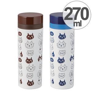 水筒 ねこだまり 270ml 直飲み マグボトル スリム 保温 保冷 日本製 ( スリムボトル スリムマグ ねこ 猫 ネコ )|colorfulbox