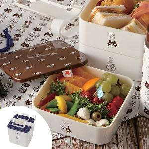 弁当箱 ねこだまり ピクニックランチボックス 3段 2700ml お重 日本製 ( 行楽弁当箱 大容量 お弁当箱 )|新着A|09|colorfulbox
