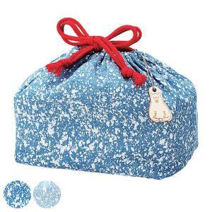お弁当袋 ランチ巾着 デニム 巾着袋 Lサイズ ( 弁当袋 ランチ巾着袋 お弁当包み  )|colorfulbox
