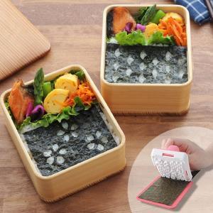 お弁当グッズ パリパリのり切り隊 和柄セット 海苔穴開け器 ( おにぎり 海苔 のり 便利グッズ )|colorfulbox