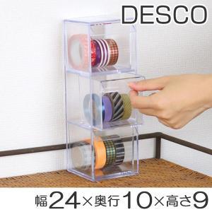 小物入れ 引き出し ミニ プラスチック クリア ミニ 卓上 透明 収納 3段 デスコシリーズ ( 小物収納 小物ケース コレクションケース )の画像