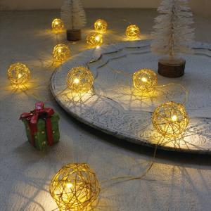 ガーランドライト LEDライト レスイヴェール ワイヤーボール 10球 ( ライト led 電池式 )|colorfulbox