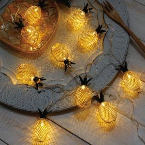 ガーランドライト LEDライト レスイヴェール パイナップル 10球 ( ライト led 電池式 )|colorfulbox