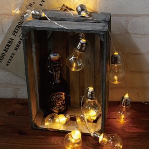 ガーランドライト LEDライト レスイヴェール クリアバルブ 10球 ( ライト led 電池式 )|colorfulbox
