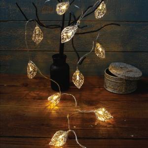 ガーランドライト LEDライト レスイヴェール リーフ 10球 ( ライト led 電池式 )|新商品|09|colorfulbox