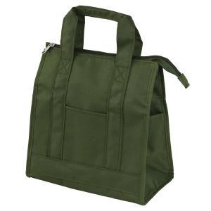 内側がアルミ素材のトート型の保冷弁当袋です。冬場の弁当袋としても使用できます。外側両サイドと正面の3...