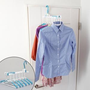 ドア上部やタンスの引き出しなどに掛けられるシャツハンガーです。シャツの洗濯物が多い方、部屋干しをされ...