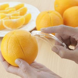 皮むき器 ラクラク皮むき 2個組 日本製 ( 皮剥き器 みかんの皮むき 柑橘類 ) colorfulbox 04