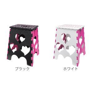 踏み台 ハートセノビーCUTE  のっぽちゃん 高さ 39cm ( おりたたみ 脚立 セノ・ビー )|colorfulbox|03