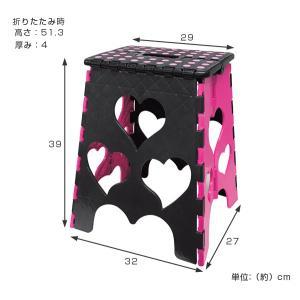 踏み台 ハートセノビーCUTE  のっぽちゃん 高さ 39cm ( おりたたみ 脚立 セノ・ビー )|colorfulbox|04