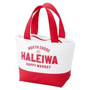 ランチバッグ 保冷 HALEIWA ロゴ レッド ファスナータイプ ( トートバッグ 保冷バッグ クーラーバッグ )|colorfulbox
