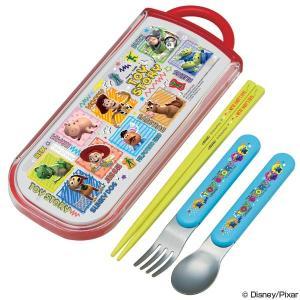 トリオセット 箸・フォーク・スプーン トイ・ストーリー スライド式 キャラクター  ( 食洗機対応 子供用お箸 カトラリー )|colorfulbox
