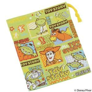 コップ袋 トイ・ストーリー 歯ブラシホルダー付き 子供用 キャラクター ( 子ども用 給食袋 巾着 )|colorfulbox