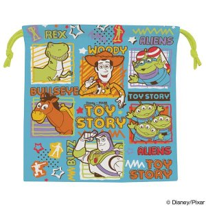 特価 【アウトレット セール】 お弁当袋 マチ付きランチ巾着 トイ・ストーリー 子供用 キャラクター ( 巾着袋 巾着ポーチ 給食袋 )|colorfulbox