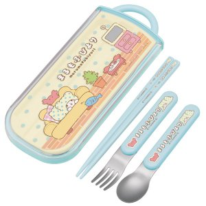 トリオセット 箸・フォーク・スプーンまるもふびよりスライド式 キャラクター  ( 食洗機対応 子供用...