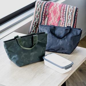保冷ランチバッグ クールランチバッグ トート型 カモフラ ブラック BONTE ( トートバッグ 保冷バッグ ファスナー付き )|colorfulbox