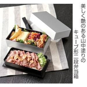 弁当箱 キューブL 男子 大容量 2段 890ml ( 二段 お弁当箱 シンプル ) colorfulbox 02
