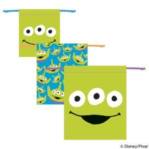 巾着3枚セット トイ・ストーリー エイリアン フェイス ( 巾着 セット 巾着袋 )|colorfulbox