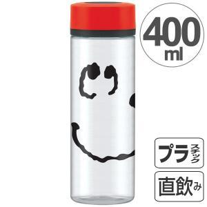 水筒 スヌーピー フェイス シンプルデザインブローボトル 400ml ( プラスチック製 ウォーターボトル マグボトル )|colorfulbox