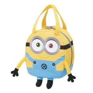 いたずら好きでバナナが大好き、お茶目なミニオンのファスナーで開閉する手提げダイカットバッグです。小さ...