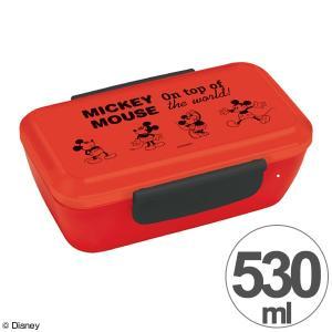 お弁当箱 ミッキーマウス ミッキーチアフル スタイリッシュランチボックス 1段 530ml ( 弁当箱 ランチボックス ドーム型 ) colorfulbox