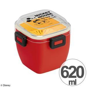 4点ロック サラダランチボックス ミッキーマウス 620ml ミッキーチアフル ( 弁当箱 ランチボックス どんぶり ) colorfulbox